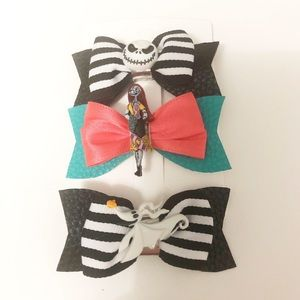 Reserved Nightmare Before Christmas Hair Clips